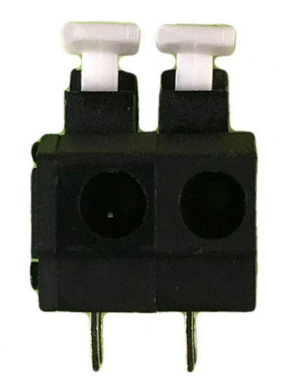 "Screwless Terminal Block - .1"" 2.54mm - Dual Pole - Black"