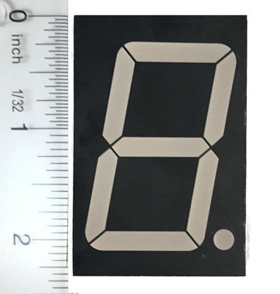 "7 Segment Red LED Display 2.3"" Common Anode"
